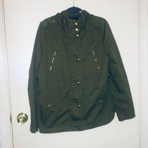 Nwot Love Tree: Medium Green Utility Jacket